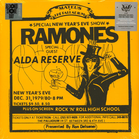 Ramones - Live At The Palladium, New York, Ny (12/31/79) Record Store Day 2019 Edition