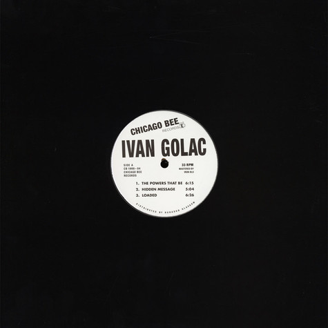 Ivan Golac - The Powers That Be EP