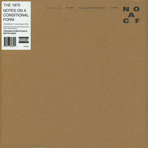 1975, The - Notes On A Conditional Form Clear Vinyl Edition