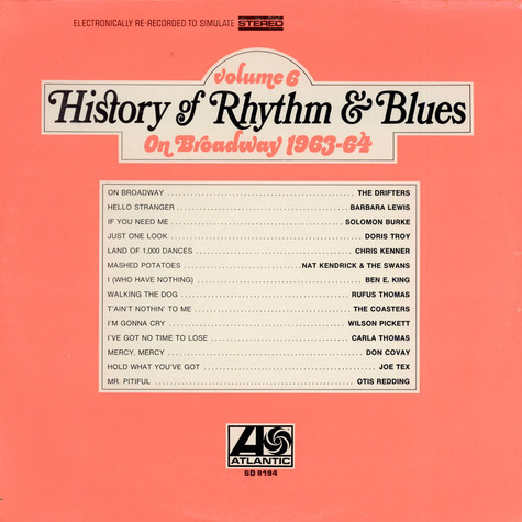 V.A. - History Of Rhythm & Blues Volume 6 On Broadway 1963-64