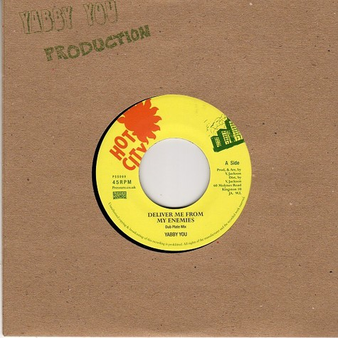 Yabby You / King Tubby & The Prophets - Deliver Me From My Enemies (Dub Plate Mix) / Version (Dub Plate Mix)