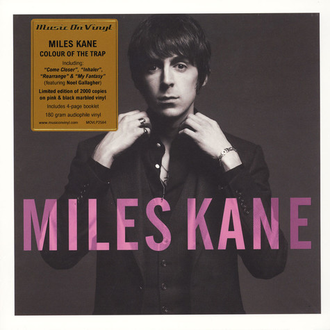 Miles Kane - Colour Of The Trap Limited Numbered Pink Marbled Vinyl Edition