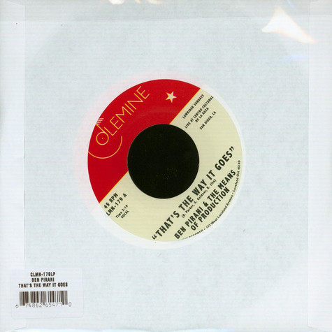 Ben Pirani & The Means Of Production - That's The Way It Goes Standard Label Edition