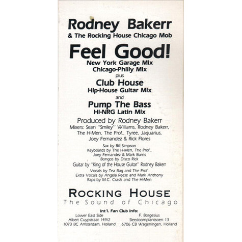Rodney Bakerr & The Rocking House Chicago Mob - Feel Good!