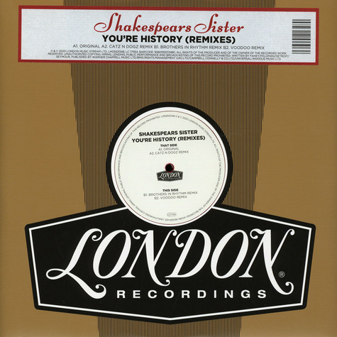 Shakespears Sister - You're History Remixes Record Store Day 2020 Edition