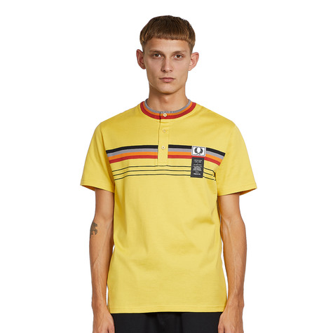 Fred Perry x Art Comes First - Collarless Striped Polo Shirt