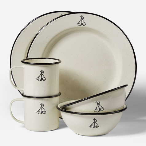 Pendleton - Camp Enamelware Dishes Set