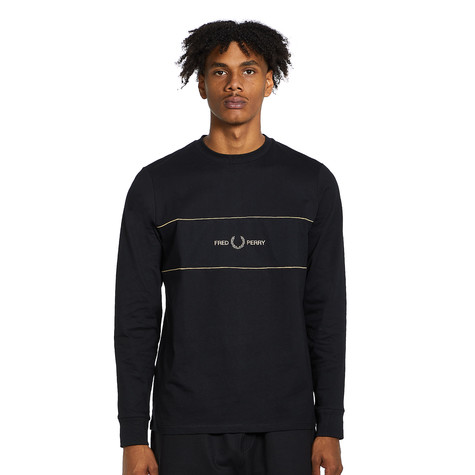 Fred Perry - Embroidered Panel LS T-Shirt
