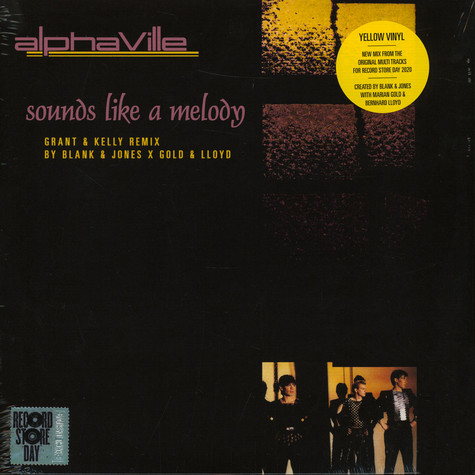Alphaville - Sounds Like A Melody Grant & Kelly Remix By Blank & Jones X Gold & Lloyd Yellow Record Store Day 2020 Edition