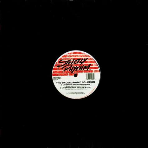 Underground Solution, The - Luv Dancin' (30th Anniversary) Store Day 2020 Edition