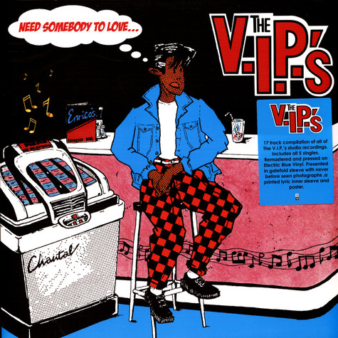 V.I.P.'S, The - Need Somebody To Love Electric Blue Vinyl Edition