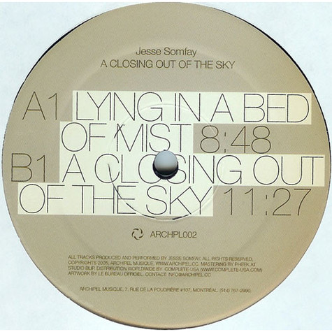 Jesse Somfay - A Closing Out Of The Sky