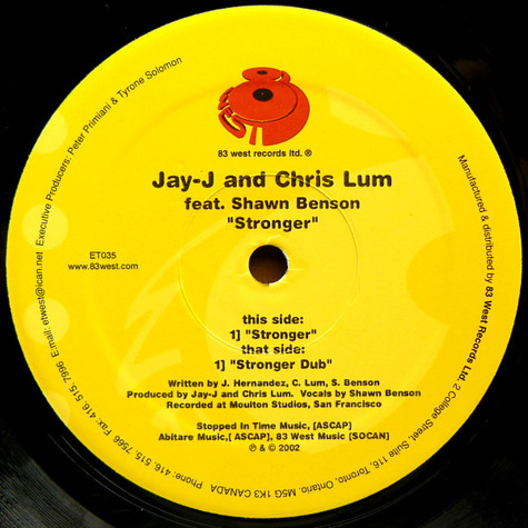 Jay-J & Chris Lum Feat. Shawn Benson - Stronger