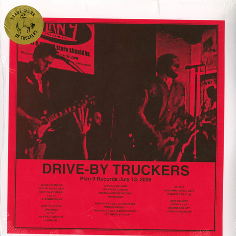 Drive-By Truckers - Plan 9 Records July 13, 2006 Black Friday Record Store Day 2020 Edition
