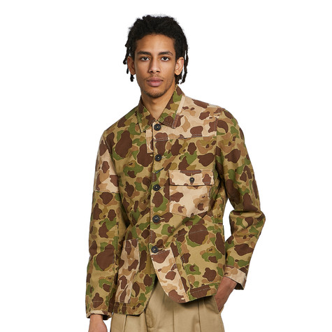 Universal Works - Camo Patched Mill Bakers Jacket