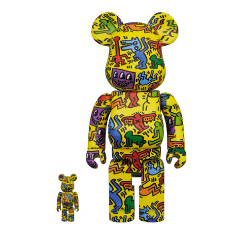 Medicom Toy - 100% + 400% Keith Haring #5 Be@rbrick Toy