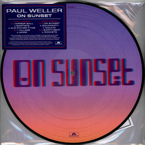 Paul Weller - On Sunset Picture Disc Edition