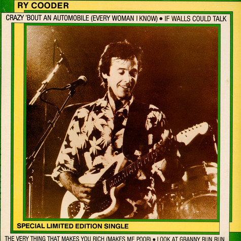 Ry Cooder - Crazy 'Bout An Automobile (Every Woman I Know)