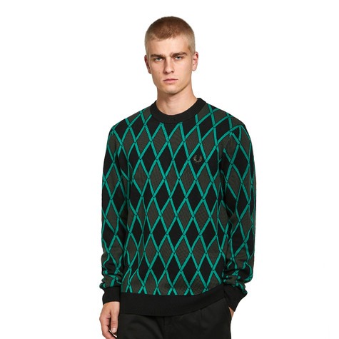 Fred Perry - Harlequin Crew Neck Jumper