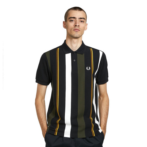 Fred Perry - Knitted Stripe Polo Shirt