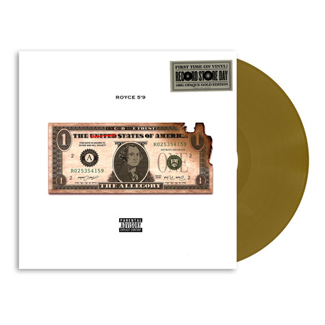 Royce Da 5'9 - The Allegory Opaque Gold Record Store Day 2021 Edition