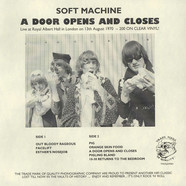 Soft Machine - A Door Opens And Closes
