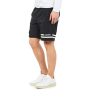 Lacoste - Green Crocodile Transfer Diamond Weave Taffeta Shorts