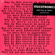 Tocotronic - Hey Du