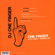 DJ One Finger - One Finger Transparent Orange Vinyl Edition