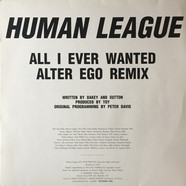 The Human League - All I Ever Wanted (Alter Ego Remix)