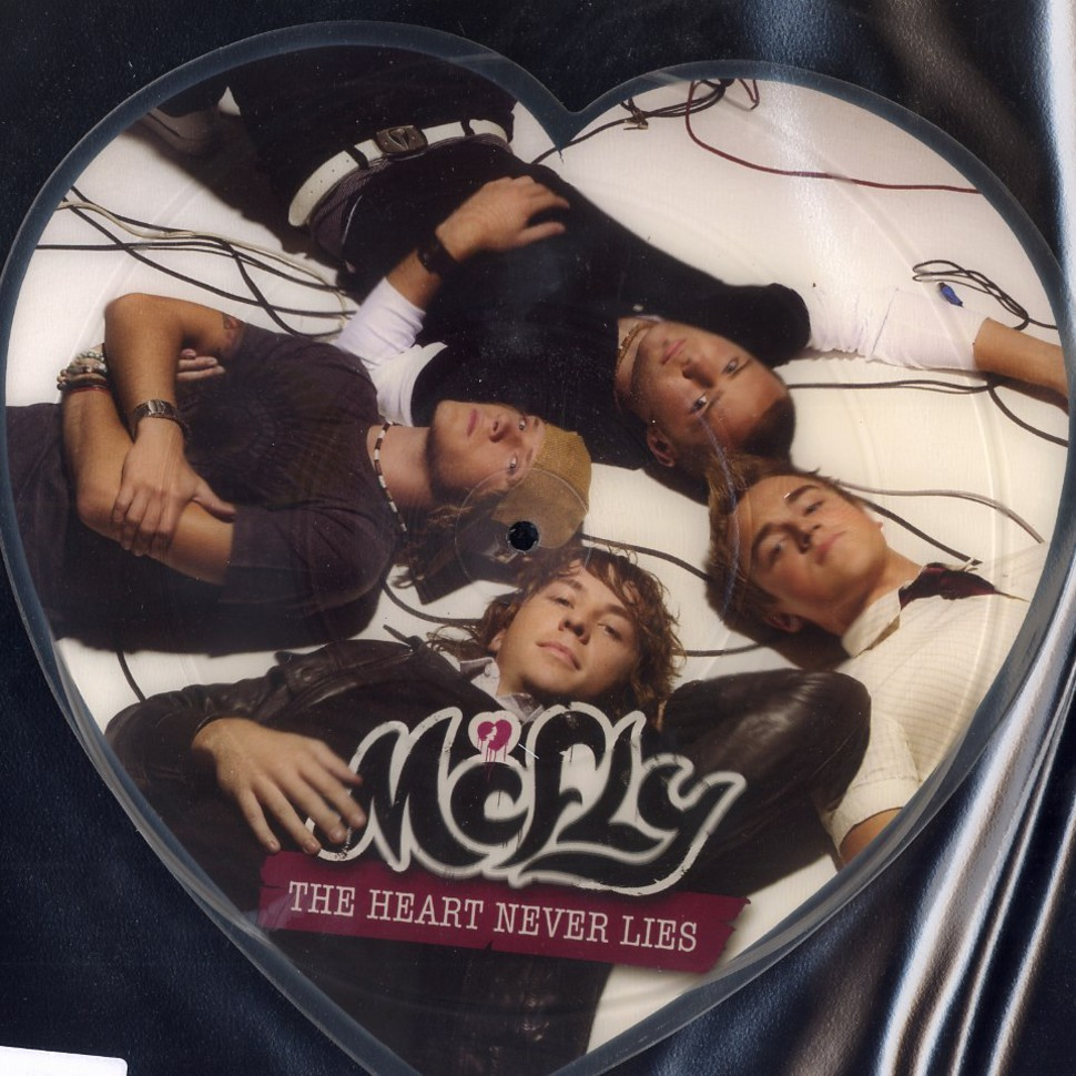 """THE HEART NEVER LIES McFLY 7/"""" PICTURE DISC SHAPED NEW"""