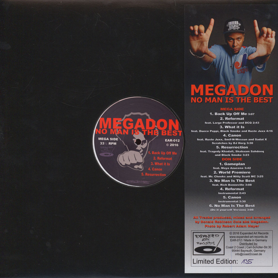 Megadon - No Man Is The Best Dark Red White Vinyl Edition