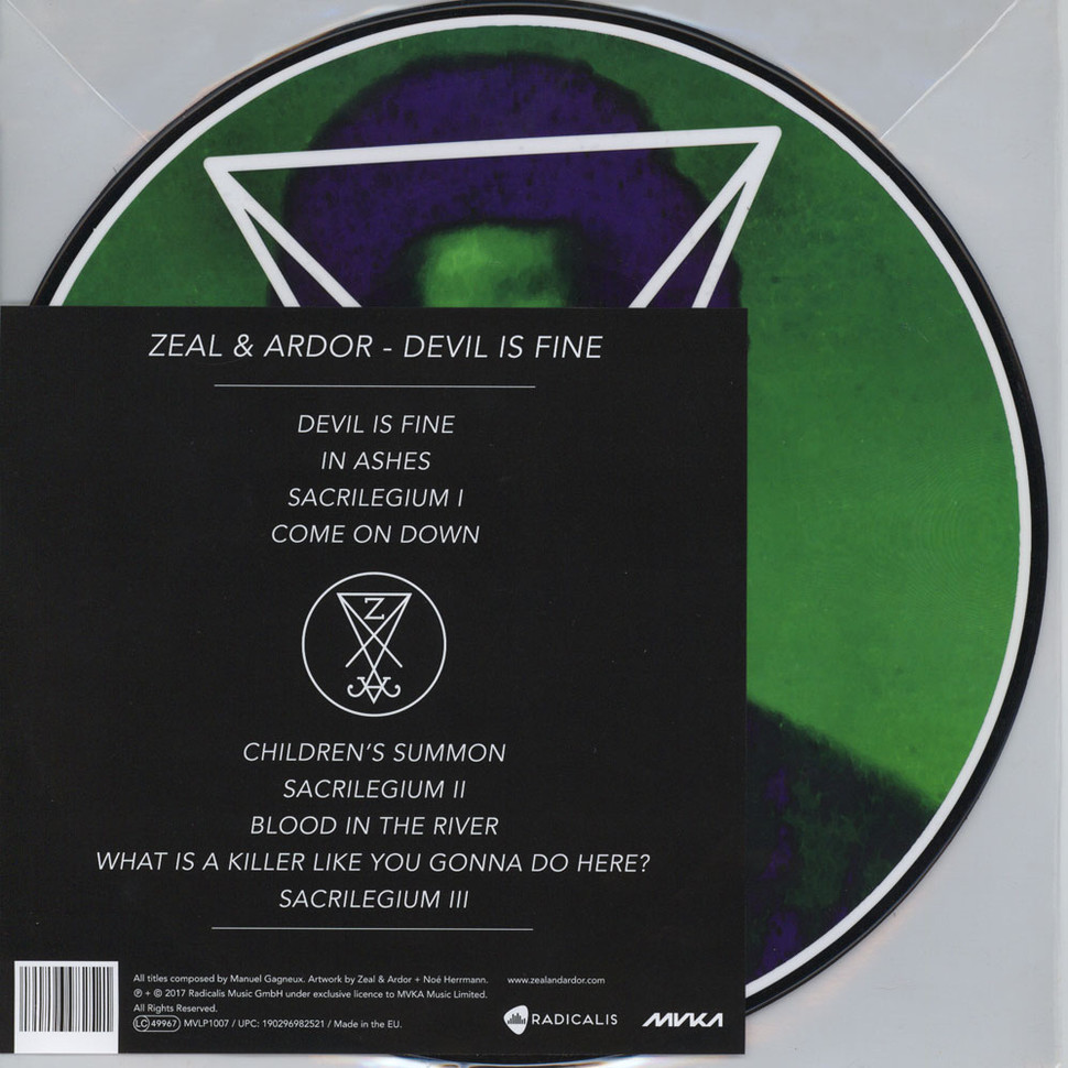 Zeal & Ardor - Devil Is Fine Picture Disc Edtion