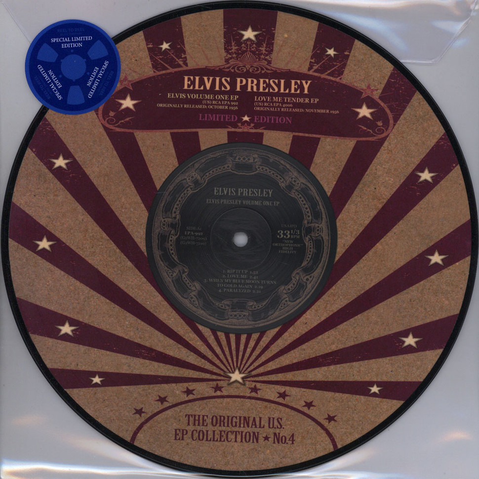 Elvis Presley - US EP Collection Volume 4 Picture Disc Edition