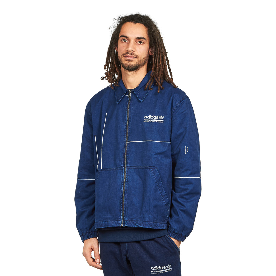 Estado dominio Luminancia  adidas - Kaval Graphic Staple Jacket (Night Indigo / Night Marine) | HHV