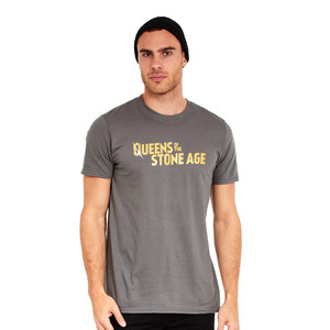 Queens Of The Stone Age - Text Logo (Metallic) T-Shirt