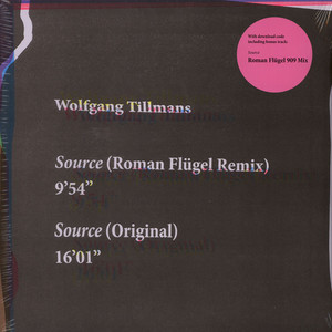 Wolfgang Tillmans - Source Roman Flügel Remixes